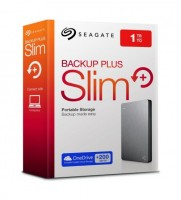 "Накопитель внешний HDD 2.5"" 1Тб Seagate Backup Plus Slim STDR1000201 16 Мб 5400 об/мин,серебристый,r"
