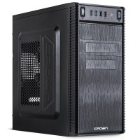 Корпус Crown CMC-403 без БП, Mini-Tower/mATX, черный