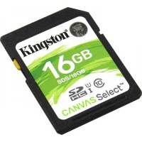 Карта памяти SDHC 16Гб/Class 10/UHS-I,Kingston Canvas Select(SDS/16GB)